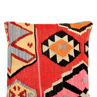 "16"" Kilim Pillow, Tribal Talisman"