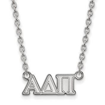 Sterling Silver Alpha Delta Pi Medium Necklace