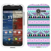 Moto X Aztec Andes Mauve and Teal Firm Case