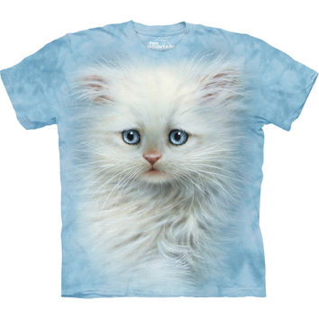 Kitten Fluffy White Kids T-Shirt