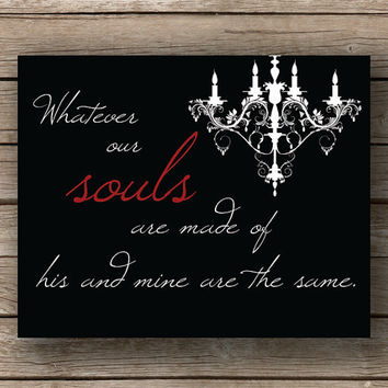 Buy 1 Get 1 Emily Bronte Souls Are Made by JaneAndCompanyDesign