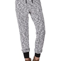 LA Hearts Marled Knit Jogger Pants - Womens Pants - Black