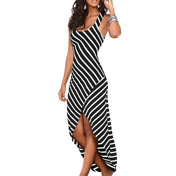 Women Summer Dress 2017 Summer Sundress Female Striped Long Maxi Dress Tunic Boho Beach Dress Robe Femme vestidos