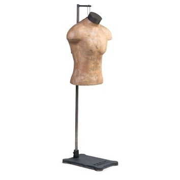 Pre-owned Male Mannequin Torso with Adjustable Stand