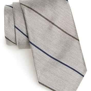 Men's Todd Snyder White Label Stripe Silk Tie, Size Regular - Metallic
