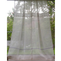 Sheer French Linen Gauze Lace Window Curtain