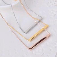 Jewelry Shiny Gift Stylish New Arrival Korean Simple Design Necklace [10794335239]
