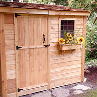 Space Saver 8'x4′ Shed With Screened Window and Flowerbox