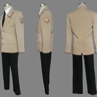 Guy Uniform Custom Cosplay Costume Uniform, Angel Beats! Costume