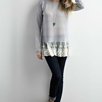 Emily Ruffles & Lace Sweater