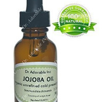 Jojoba Oil Great for Skin Hair Face & Nails Lips Cuticles Stretch Marks Beard 1 Oz Glass Amber Bottle with Glass Dropper