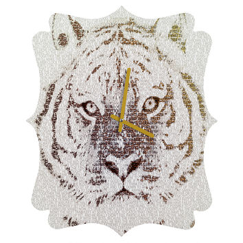Belle13 The Intellectual Tiger Quatrefoil Clock