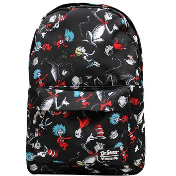 Loungefly Dr. Seuss Cat In The Hat Characters Book Bag Backpack