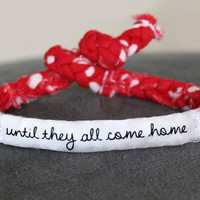 Red Friday Military Support Bracelet  Army by MilitaryHeartTees