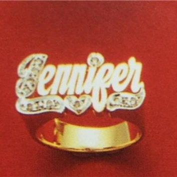 14k gold overly  any Name Rings letters personalized jewelry/gifts/a8