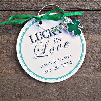 Wine Charm Favors for Weddings, Bridal Showers , Engagement Parties , Rehearsal Dinners
