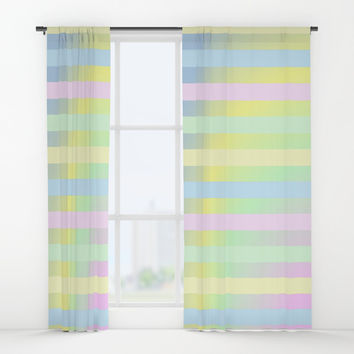 Shimmering Rainbows Window Curtains by Colorful Art