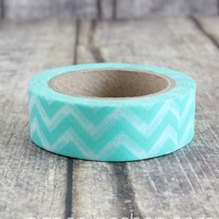 Simple Teal Chevron: PaperVine - New Zealand based Scrapbook & Craft supplies