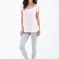 FOREVER 21 Support The Fighters PJ Set Pink/Grey