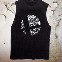 Super smash bros funny tanktop for men and women