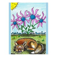 Sleeping Fox Postcard