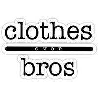 'clothes over bros' Sticker by seeleybooth