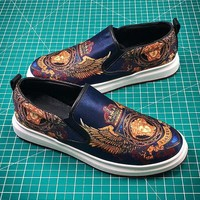 Versace Velvet Print Fabric Shoes