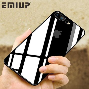 EMIUP Luxury Transparent Case For iPhone 7 6 6s Plus Cases Ultra Thin TPU soft Silicone protection Cover Case For iPhone 5 5S SE