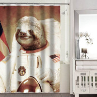 slothzilla astronaut shower curtains adorabel bathroom heppy shower curtains.