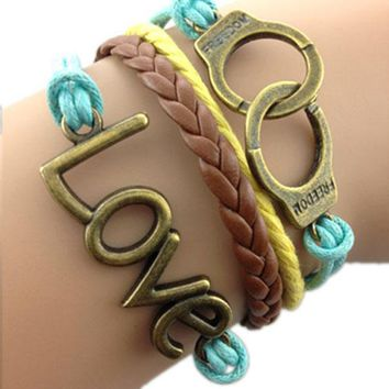 Love Freedom Colorful Bracelet