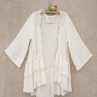 Cream Keely Open Cardigan - Toddler & Girls