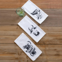 Cocktails Kitchen Towels (Set of 3)
