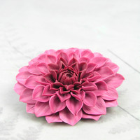 Polymer clay dahlia brooch - floral brooch - autumn flower - fall brooch