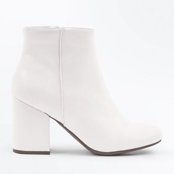White Block Heel Ankle Boots | New Look