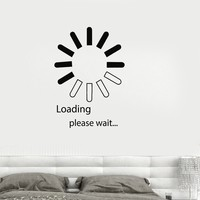 Vinyl Decal Computer IT Design Video Game Loading Bedroom Decor Wall Stickers Unique Gift (ig2745)