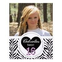 Zebra Sweet 16: Picture:Party Invitation from Zazzle.com