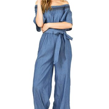Tula Off Shoulder Jumpsuit