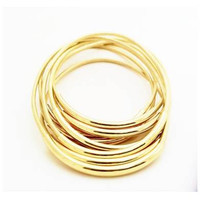Gold Bangle Bracelets- by LEATHER WRAPS