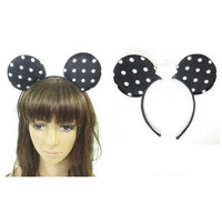 Disney Minnie Mickey Mouse Ears Polka Dot Polkadot Headband