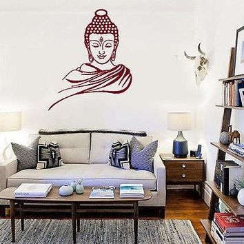 Wall Stickers Vinyl Decal Buddha Buddhism Enlightenment Nirvana Yoga Unique Gift (ig1401)
