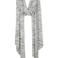 Marled Oblong Scarf - Heather Grey