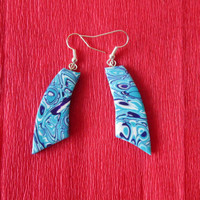 turquoise polymer clay earrings,colorful earrings,summer earrings,gift for her,affordable jewelry,polymer clay jewelry,beach earrings,blue