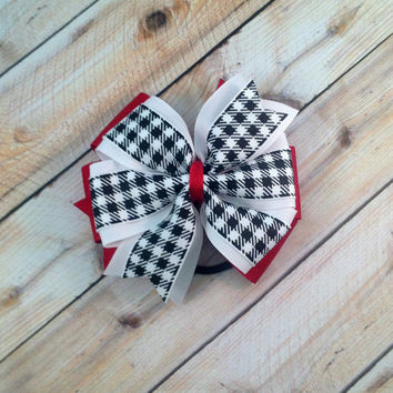 Dog Collar Bow // Buffalo Check // Black and White Bow // Pet Accessory // Dog Collar Bow // Pet Bow // Hair Accessory // Dog Bow // Plaid