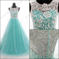 2014 New Green prom dress Lace Wedding gown Sexy Wedding Dress party dress Cheap dress formal dress Bridesmaid dresses  Long dress