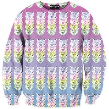 Trippy Cats Crewneck