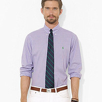 Polo Ralph Lauren Custom-Fit Mini-Checked Poplin Sport Shirt - Purple/