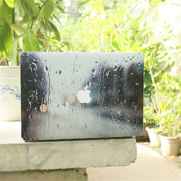 3D Raining Scene Full Body Cover Laptop Decal Stickers Case For Apple Macbook Air Pro Retina 11 13 15 Inch Protective Skin
