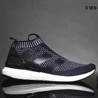 Adidas ACE 16+ PURECONTROL ULTRA BOOST Women Men Shoes B-SSRS-CJZX Blue