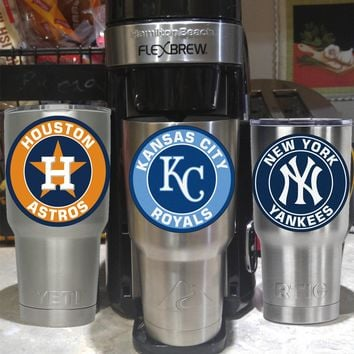 Kansas City Royals Tumbler Decals/Stickers for 30oz & 20oz Tumblers/Ramblers/Cups Buy 2 Get 1 Free! Fits YETI RTIC Ozark Free Shipping!