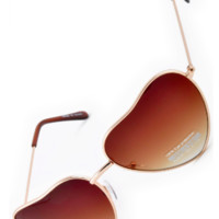 I Heart You Sunnies- Brown/Gold